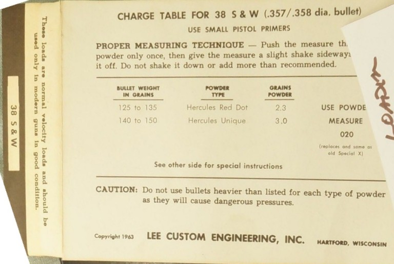 lee powder measure instructions